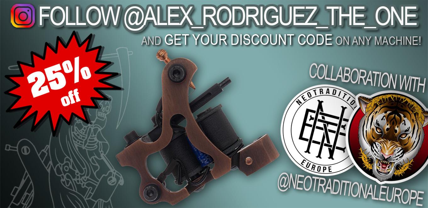 Sale of tattoo machines, Alex Rodriguez Machines